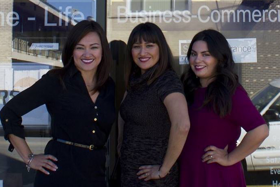 About Our Agency - The Linares Insurance Group Business Team Portrait in Front of Their Office Building
