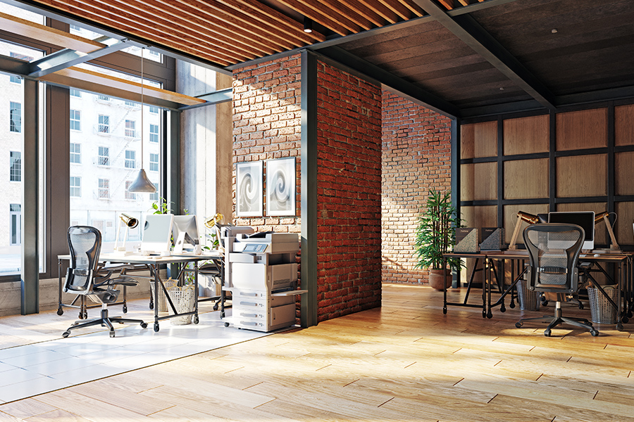 Business Insurance - Modern and Contemporary Loft Office Located in Chicago, Illinois